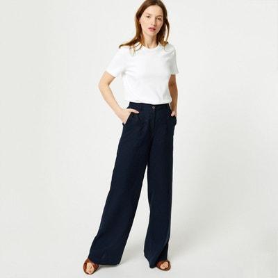 172e5aef93c4 Pantalon large en lin Pantalon large en lin MONOPRIX