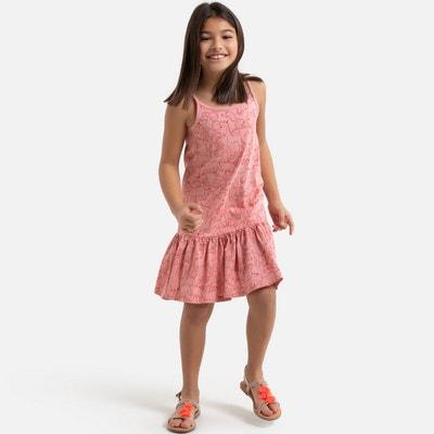 Wijd uitlopende jurk met smalle schouderbandjes, bedrukt Wijd uitlopende jurk met smalle schouderbandjes, bedrukt LA REDOUTE COLLECTIONS