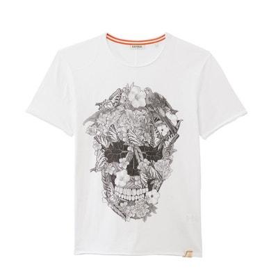 daad6be0d558e T-shirt col rond motif tête de mort Pitz KAPORAL