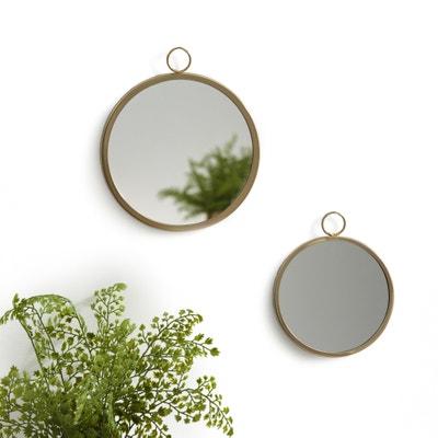 Miroirs ronds à suspendre (lot de 2), UYOVA Miroirs ronds à suspendre (lot de 2), UYOVA LA REDOUTE INTERIEURS
