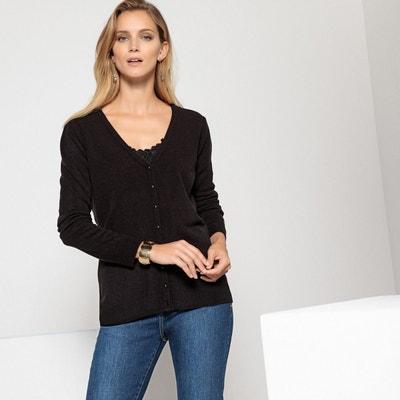 vente professionnelle divers styles gros en ligne Gilet cachemire noir femme | La Redoute