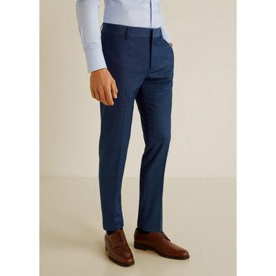 0b554312 Pantalon costume super slim fit carreaux MANGO MAN