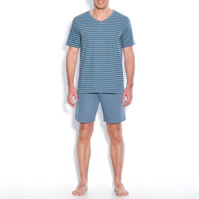 93df16071ab7c Pyjashort manches courtes col V Pyjashort manches courtes col V LA REDOUTE  COLLECTIONS