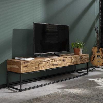 meuble tv bois la redoute