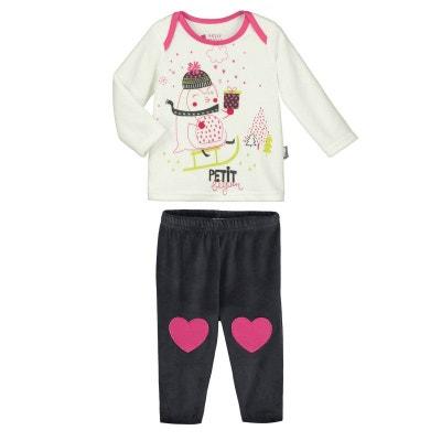 9edb788a2cd35 Pyjama bébé 2 pièces velours Lovesnow Pyjama bébé 2 pièces velours Lovesnow PETIT  BEGUIN
