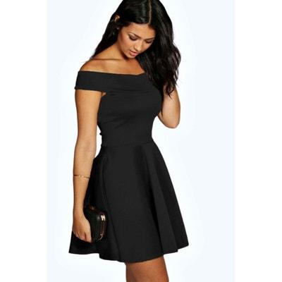 aa0cee65bcc35 Robe noir droite femme