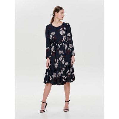 470dc750fa74 Robe à manches longues À fleurs Robe à manches longues À fleurs ONLY