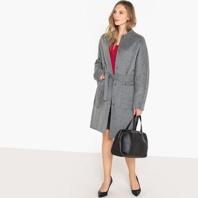 Manteau mi long sans col en mélange laine LA REDOUTE COLLECTIONS 08f4a4fae00