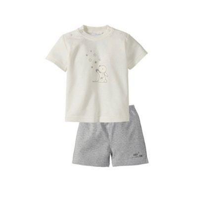 bcacc99418f01 Bornino Le pyjashort 2 pièces short + T-shirt pyjama bébé tenues de nuit.