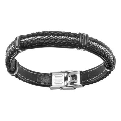 a1212f91f61 Bracelet 20 cm Tressé Fil Chaînette Acier Bracelet 20 cm Tressé Fil  Chaînette Acier ...