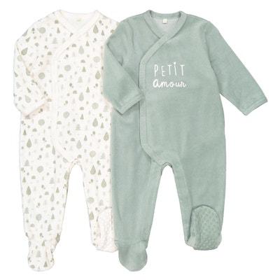 Set van 2 geboorte pyjama's in fluweel, prema - 2 jaar Set van 2 geboorte pyjama's in fluweel, prema - 2 jaar LA REDOUTE COLLECTIONS