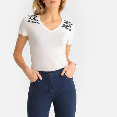 0e7c40c88ade T-shirt col V manches courtes ANNE WEYBURN