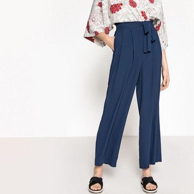 877c0a20ac6 Pantalon large avec ceinture LA REDOUTE COLLECTIONS