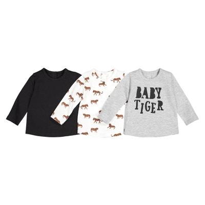 Set van 3 T-shirts met lange mouwen 1 mnd - 4 jaar Set van 3 T-shirts met lange mouwen 1 mnd - 4 jaar LA REDOUTE COLLECTIONS
