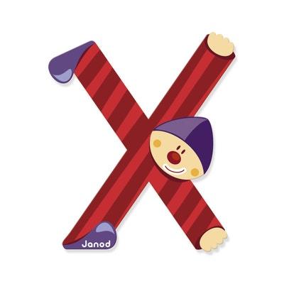 Lettre Décorative Clown En Bois : X Lettre Décorative Clown En Bois : X  JANOD