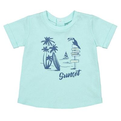 1074423515450 T-shirt col rond imprimé devant 1 mois-4 ans T-shirt col