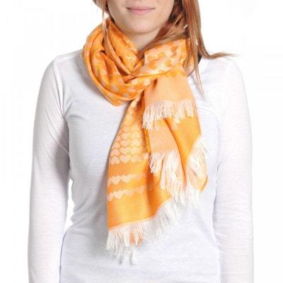 Echarpe légère Gadagne Orange - Fabriqué en France QUALICOQ 2e3064f6a8e