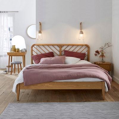 Bed in massief eikenhout met lattenbodem, Anda Bed in massief eikenhout met lattenbodem, Anda LA REDOUTE INTERIEURS