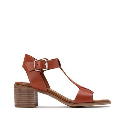 Leren sandalen met hak, Valmons Leren sandalen met hak, Valmons KICKERS