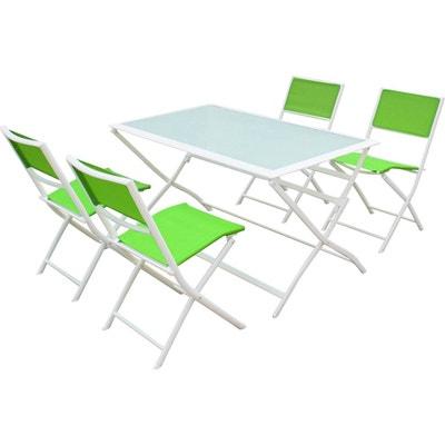 Salon de jardin plastique vert | La Redoute