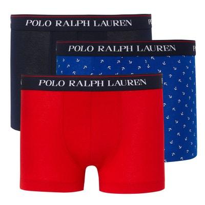 Lot de 3 boxers, 2 unis, 1 imprimé POLO RALPH LAUREN 1b5b7fea8c96