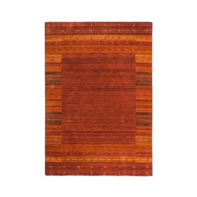 c326dd229170 Tapis ethnique noué main en laine doux rouge Himalaya ALLOTAPIS