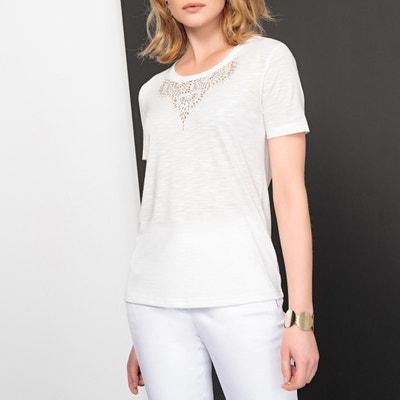 T-shirt col rond, clous fantaisie, manches courtes T-shirt col rond, clous fantaisie, manches courtes ANNE WEYBURN