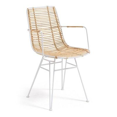 Chaise Avec Accoudoirs Tishana Blanc KAVE HOME