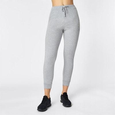 Femmes Jogger Pantalon Jeggings Leggings joggpants en survêtement rayures gris XS 34