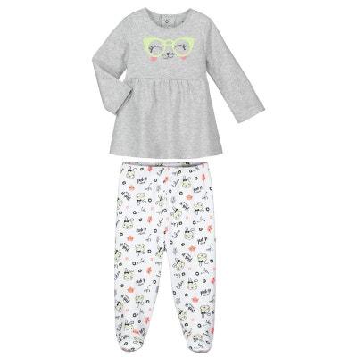 5c26e5940e78c Pyjama bébé 2 pièces avec pieds Mini Girl Pyjama bébé 2 pièces avec pieds  Mini Girl