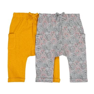 Confezione da 2 pantaloni alla turca in jersey di cotone 1 mese - 3 anni LA 1aea568799f