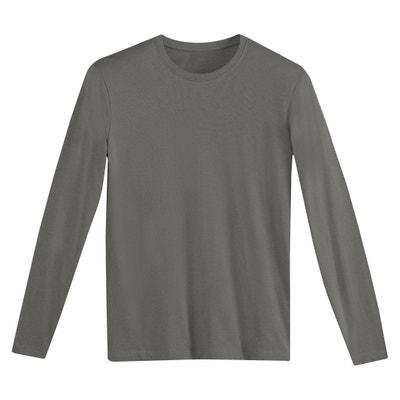 9b0b14b5d84 T-shirt met ronde hals en lange mouwen T-shirt met ronde hals en