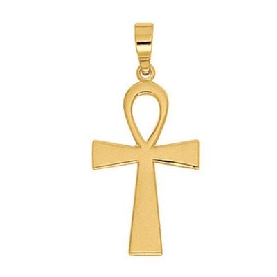 Pendentif Ankh Croix Amulette Egyptienne Or Jaune 750 000 SO CHIC BIJOUX 6af9bc347d2