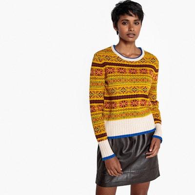cc07306d76a Пуловер с круглым вырезом и жаккардовым рисунком из полушерстяной ткани LA  REDOUTE COLLECTIONS