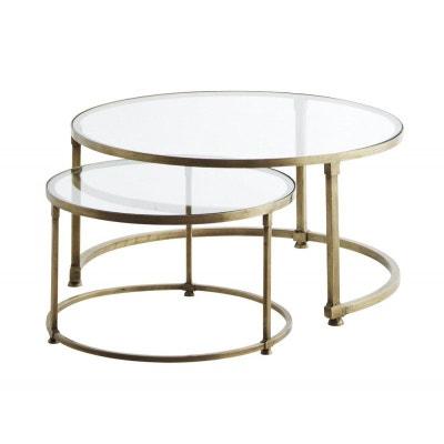 Table Gigogne Verre La Redoute