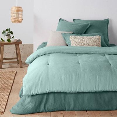 jete de lit bleu la redoute. Black Bedroom Furniture Sets. Home Design Ideas