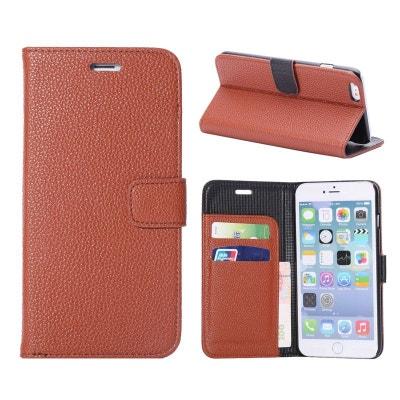 Etui portefeuille iPhone 6 Plus simili cuir marron Etui portefeuille iPhone  6 Plus simili cuir marron fcf94500345
