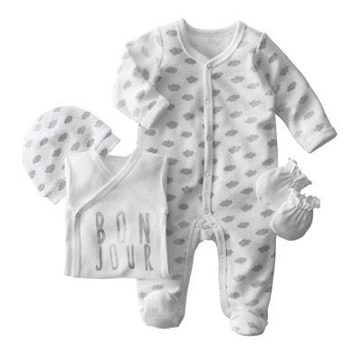 4-Piece Newborn Set (Bodysuit, Sleepsuit, Hat and Mitts) 4-Piece Newborn Set (Bodysuit, Sleepsuit, Hat and Mitts) LA REDOUTE COLLECTIONS