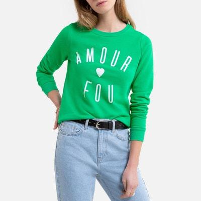 Sweater met ronde hals en tekst vooraan Sweater met ronde hals en tekst vooraan ONLY