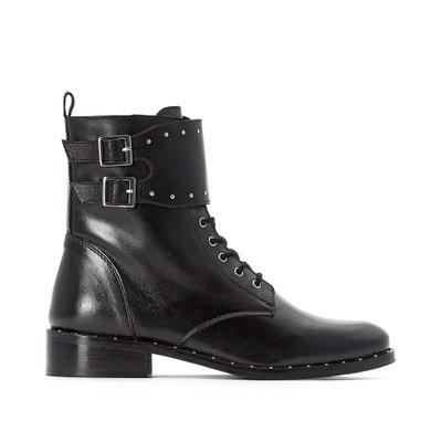 Leren boots met veters onder pat Leren boots met veters onder pat LA REDOUTE COLLECTIONS