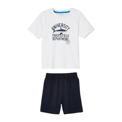 de524696b0291 Lot de 2 pyjashorts garçon combinables Lot de 2 pyjashorts garçon  combinables VERTBAUDET