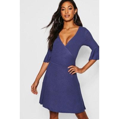 cbfc4bb3df0 Robe courte bleu indigo