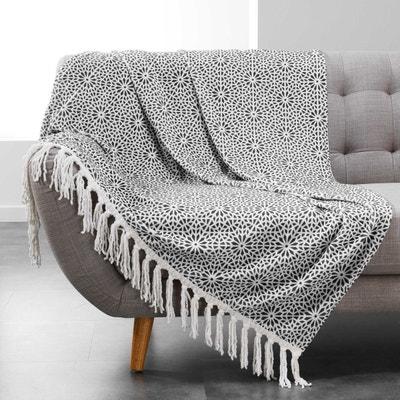 Plaid Couverture à franges Collection Tunis DOUCEUR D INTÉRIEUR f0123eed671
