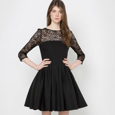 e5b240ee3902c11 Платье расклешенное с нижней юбкой и спинкой из кружева LA REDOUTE  COLLECTIONS