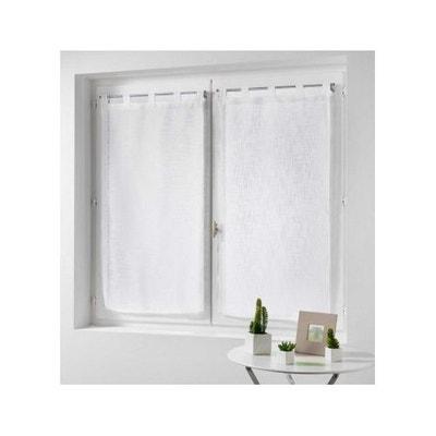 paire de rideaux blanc la redoute. Black Bedroom Furniture Sets. Home Design Ideas