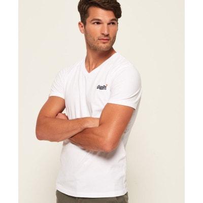 db868be0232 T-shirt col v manches courtes ORANGE LABEL VINTAGE T-shirt col v manches