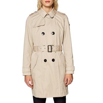 461b755df38f Trench-coat en coton à ceinture Trench-coat en coton à ceinture ESPRIT