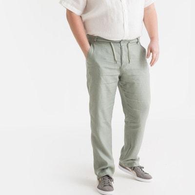 6667d808801 Pantalon pur lin taille élastiquée Pantalon pur lin taille élastiquée  CASTALUNA FOR MEN