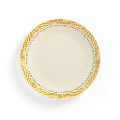 IRUN Graphic Print Earthenware Dessert Plates (Set of 4) IRUN Graphic Print Earthenware Dessert Plates (Set of 4) LA REDOUTE INTERIEURS