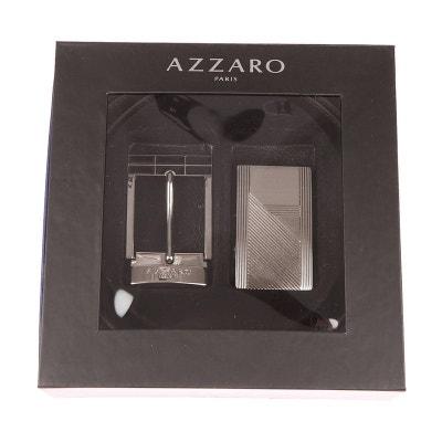 Coffret ceinture ajustable en refente de cuir de vachette réversible  Coffret ceinture ajustable en refente de. Soldes f097acd9a75